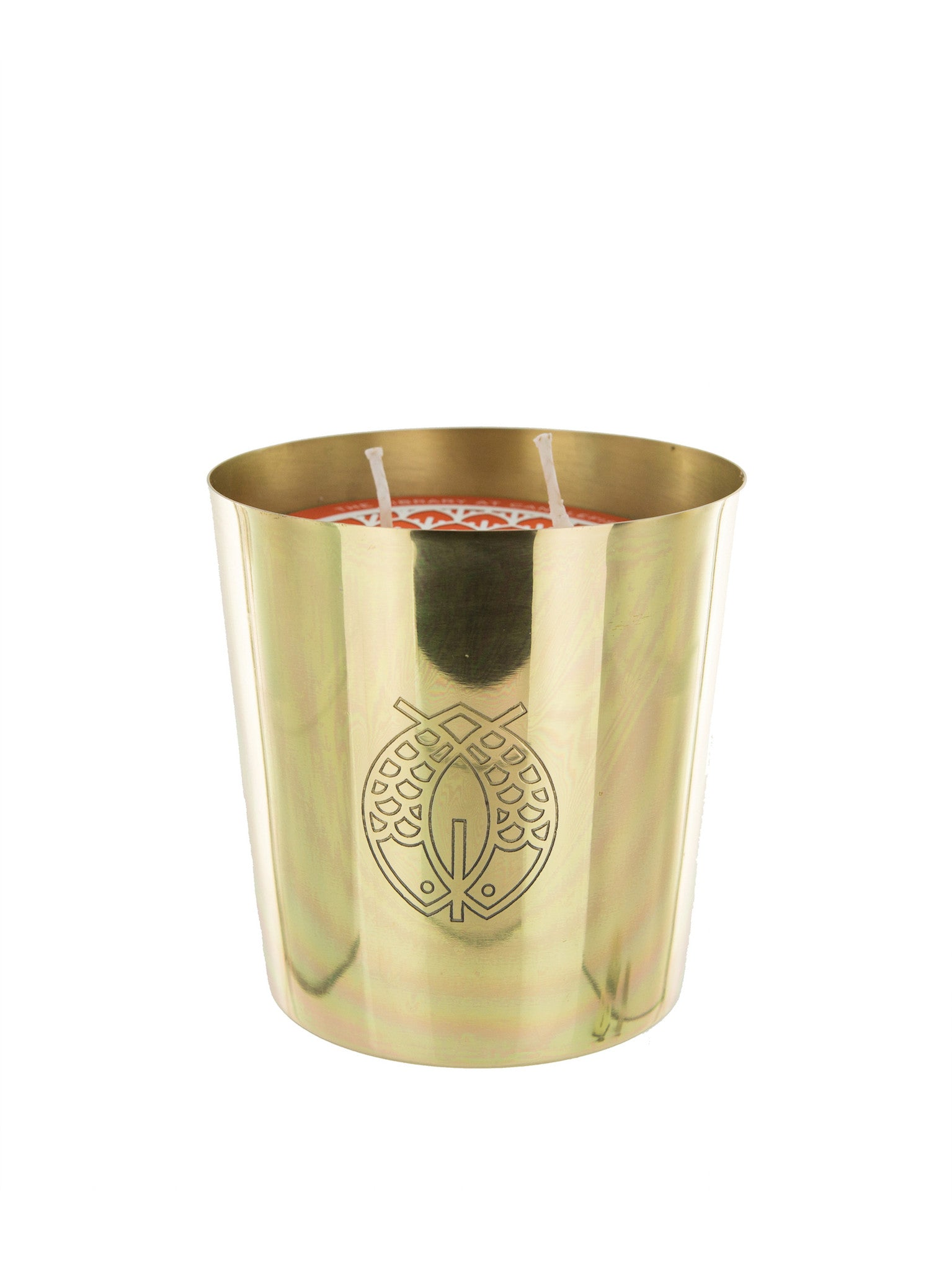 Candlefish No. 4 Large Brass Candle
