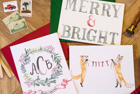 November Maker Break: Tiny Shindigs & Sas-E Ink Holiday Card Workshop