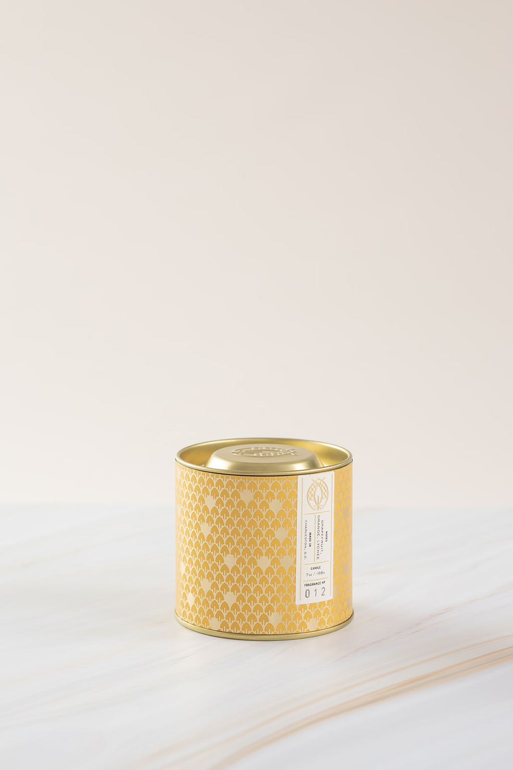 Candlefish No. 12 Gold 7oz Tin with Embossed Lid