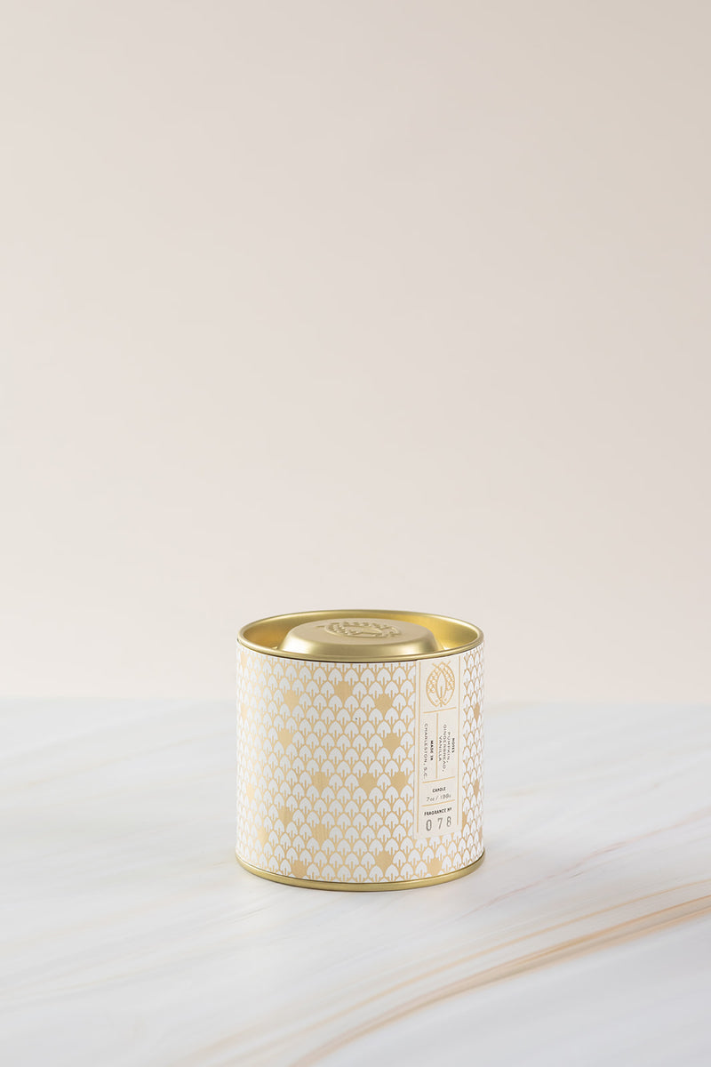 Candlefish No. 78 Gold 7oz Tin with Embossed Lid