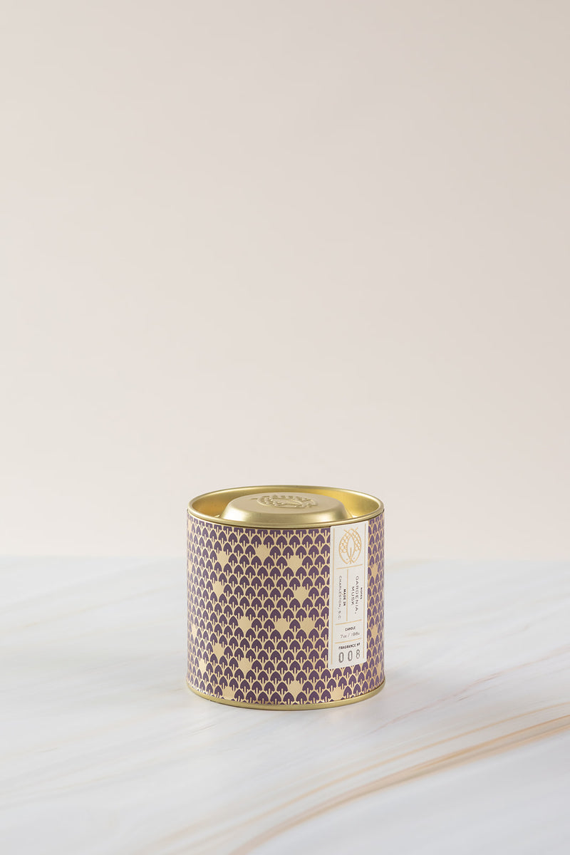 Candlefish No. 8 Gold 7oz Tin with Embossed Lid