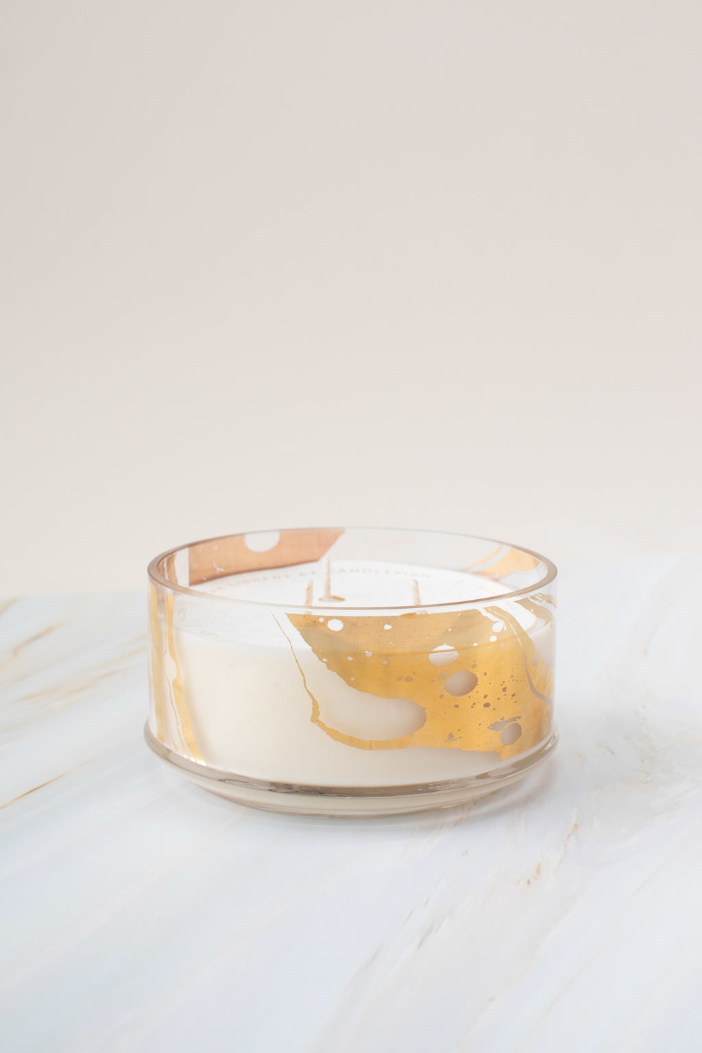 Candlefish No. 62 Gold Marbled Candle