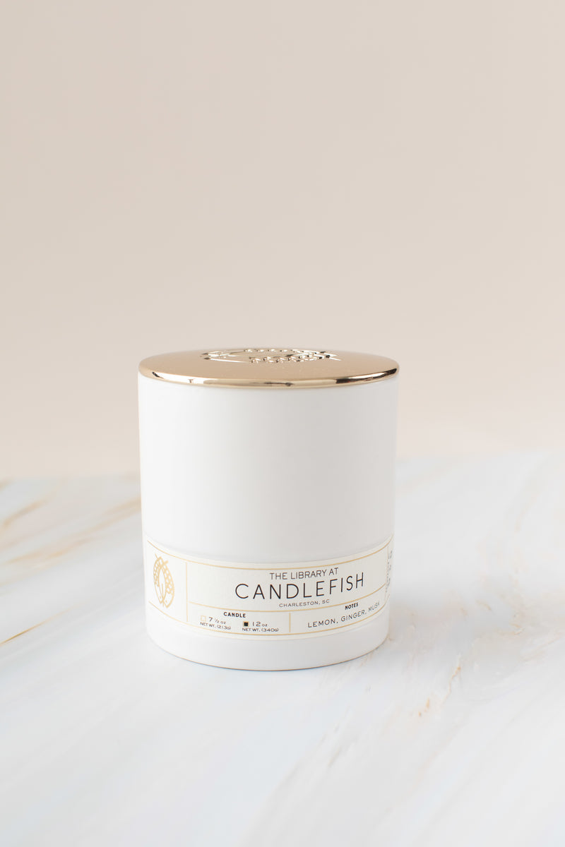 Candlefish No. 30 White Ceramic Candle
