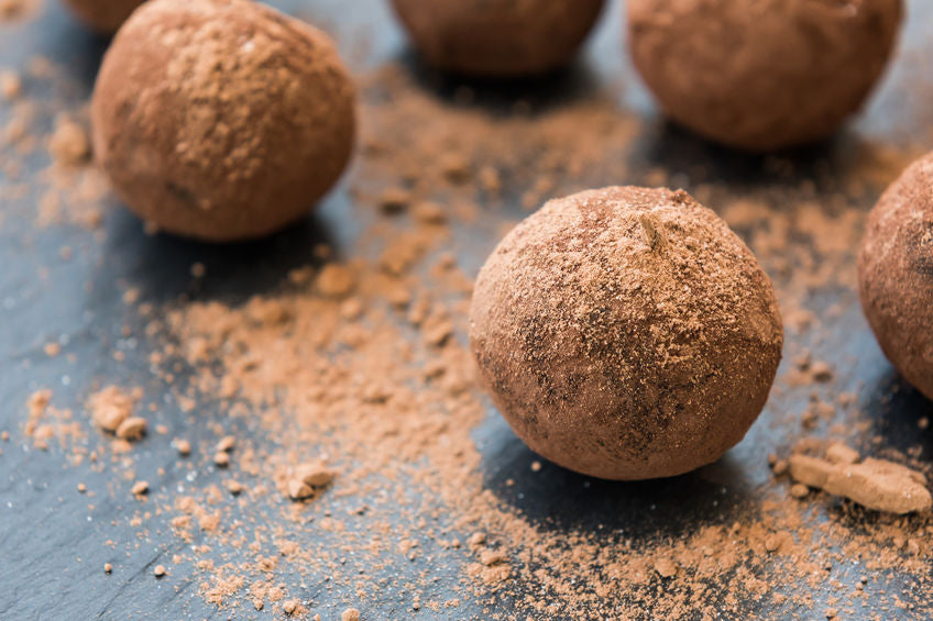 Espresso Chocolate Chip Cookie Dough Protein Bites