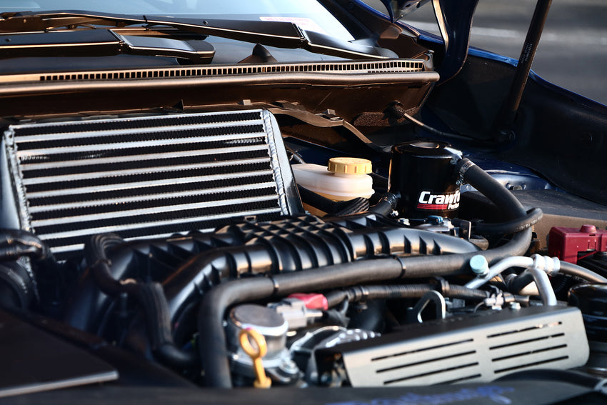 Crawford Air Oil Separator (V3) - WRX: 2015+ w/ TMIC - Install Photo