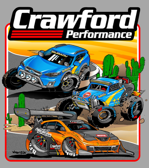 Crawford Performance Legacy T-Shirt Design - Close Up