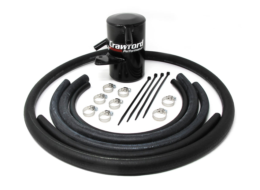 Crawford Air Oil Separator (AOS) for 2014+ Subaru Forester XT with top mounted innercooler