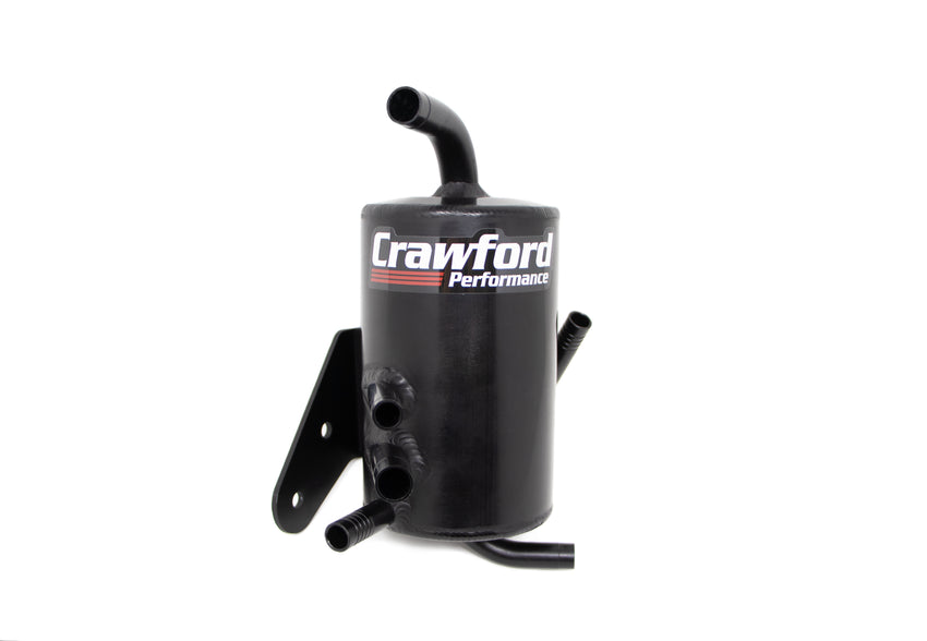 Crawford Performance Air Oil Separator (V2) - Outback XT: 2007 - 2009 - Front View