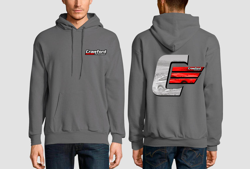 Gray Crawford Performance Icon Logo Sweatshirt