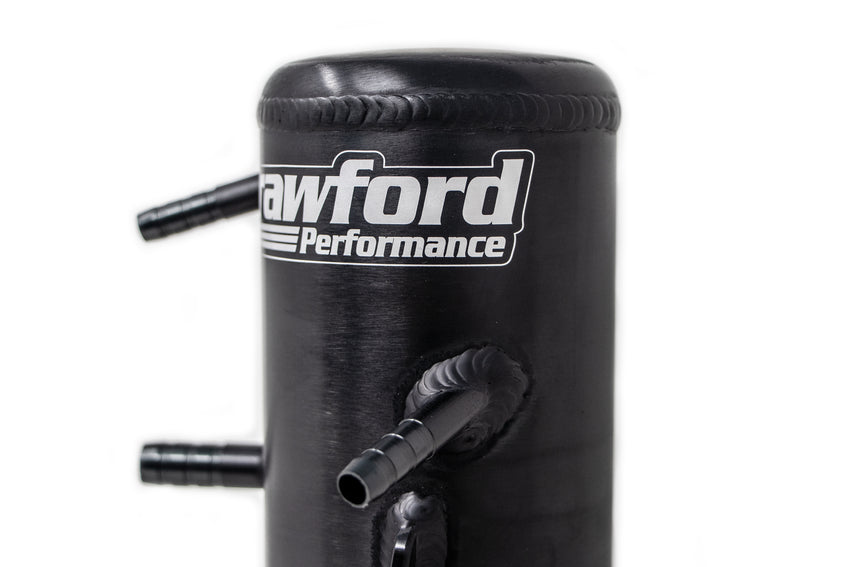 Crawford Air Oil Separator (V3) - Forester XT: 2007 - 2013 w/ TMIC - Side View