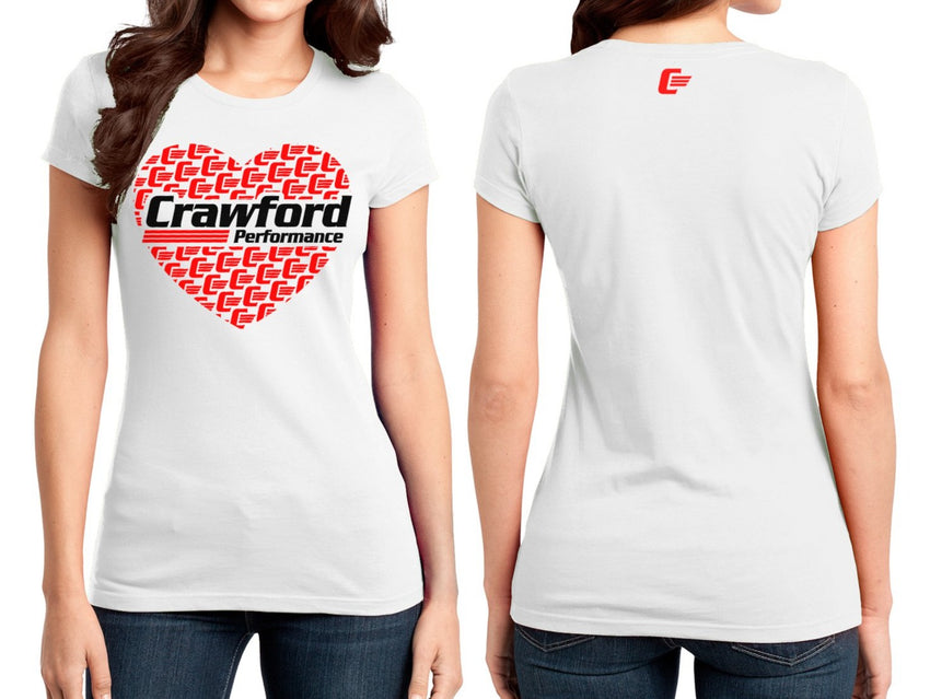 Crawford Performance Ladies Heart T-Shirt - White