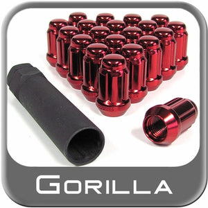 Gorilla Automotive Products - Small Diameter Lug Nuts with Key: 20 Pack - Red
