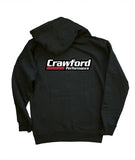 Sweatshirt: Crawford Performance Logo - Black Hoodie Rear