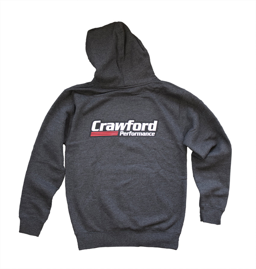 Sweatshirt: Crawford Performance Logo - Gray Back Photo