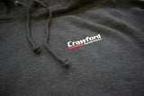 Sweatshirt: Crawford Performance Logo - Gray Close Up Photo