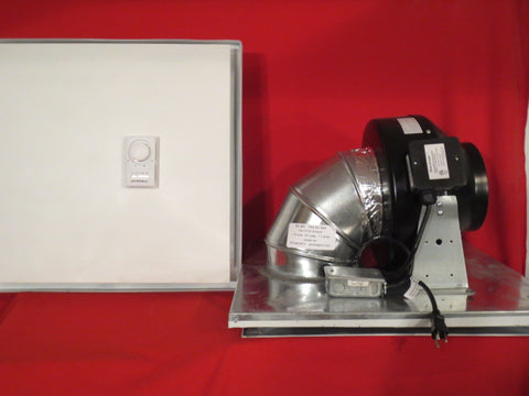 SC-6H - 435cfm Drop Ceiling Exhaust Fan- Horizontal Exhaust-Small Server Rooms & Offices-Cools to 500 Sq. Ft.