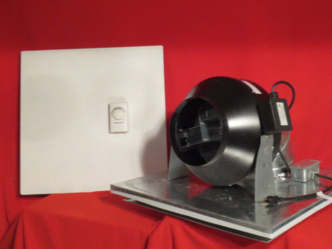 SC-8H - 745 cfm Drop Ceiling Exhaust Fan- Horizontal Exhaust-Cools 900 Sq. Ft.