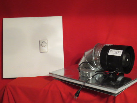 LC-8 - 660 C.F.M.-Drop Ceiling Exhaust Fan- Horizontal Exhaust-Cools 800 Sq. Ft.