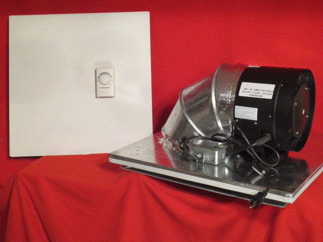 SCH-10 - 1000 C.F.M. Drop Ceiling Exhaust Fan-Horizontal Exhaust -Cools 1300 Sq. Ft.