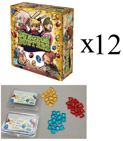 Dungeon Busters 3-5 Player 20 Minute Filler Family Card Game + Bonus Gems X 12 (Full Case) **78% off**
