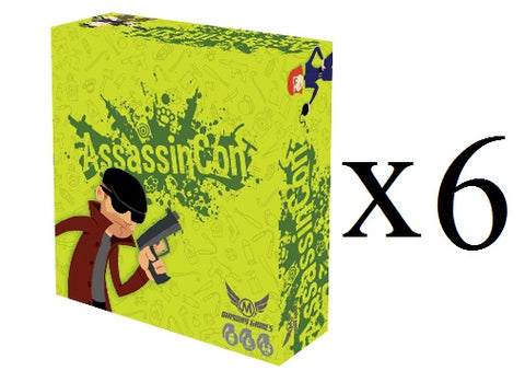 AssassinCon 4-6 Player Party Game X 6 (Full Case) **75% off**  -$7.49/copy!