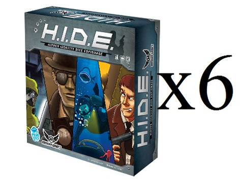 HIDE (Hidden Identity Dice Espionage) Dice Deduction Game X 6 (Full Case) **79% off** -$8.32/copy!