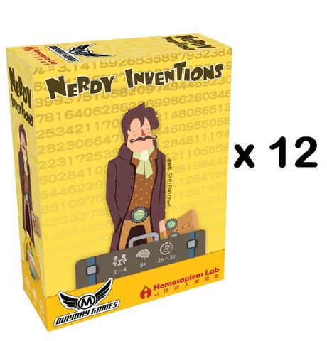 Nerdy Inventions 2-4 Player Steampunk Card Game X 12 (Full Case) **83% off** -$3.33/copy!