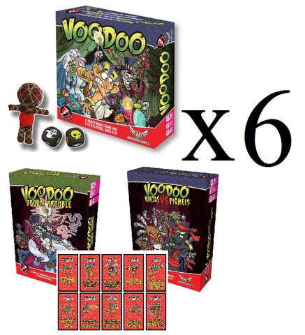 Case of 6 Voodoo Family/Party Game+ 6 Each of both Expansions + 6 Promo Card Packs (Full Case)  **78% off**