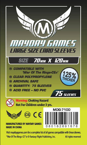 Large Card Sleeves (70x120mm) - Premium Protection (75 sleeves per pack) - Mayday Games