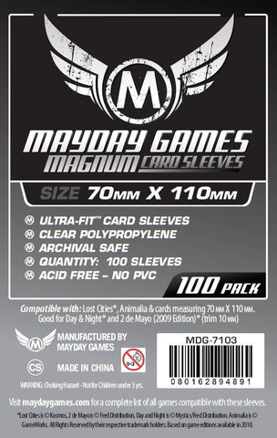 """Lost Cities"" Card Sleeves - Magnum Ultra-Fit  (70x110mm) - Standard Protection (100 sleeves per pack) - Mayday Games - 1"