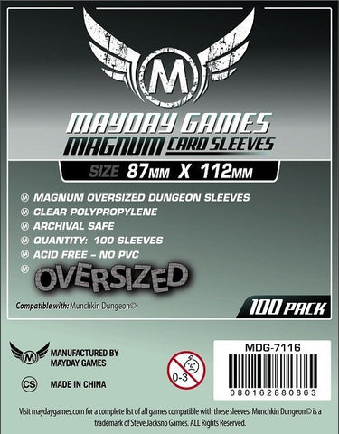 Munchkin Dungeon Card Sleeves - Magnum Oversized (87x112mm) - Standard Protection (100 sleeves per pack) - Mayday Games - 1