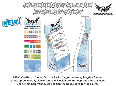 "Sleeve Display Rack - ""Light"" Version Retail Store Display Rack & 262 packs of Sleeves **70% off**"