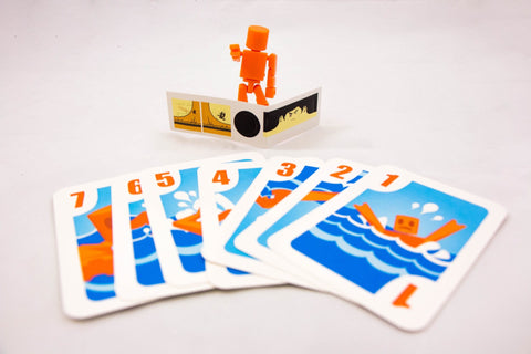 "Orange Robot, Cards and ""Bruce Lee"" sticker for Get Bit! Original Edition! -  - Mayday Games"