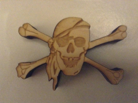 1 Pirate Token - Laser Cut Wood -  - Mayday Games