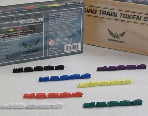 Wooden Train Token Set - Premium -  - Mayday Games