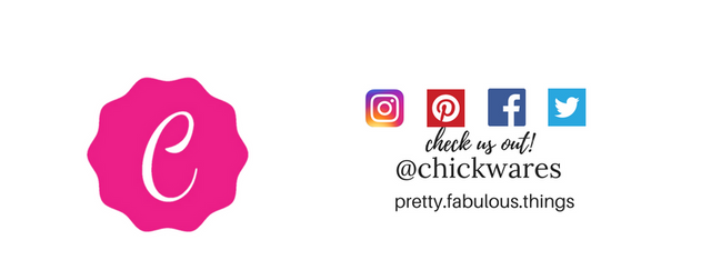 Follow Us!  @chickwares on Instagram, Facebook, Pinterest and Twitter!
