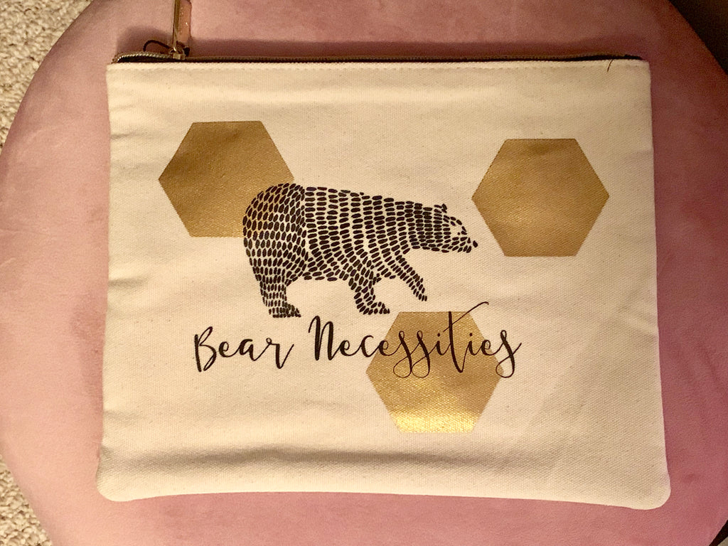 "Set of 3 Pouches ""Bare Necessities"" 