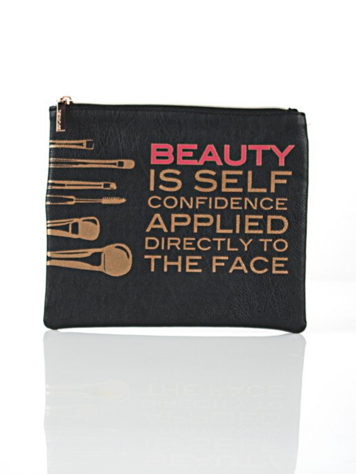 """Beauty is Confidence.... Faux Leather Pouch"