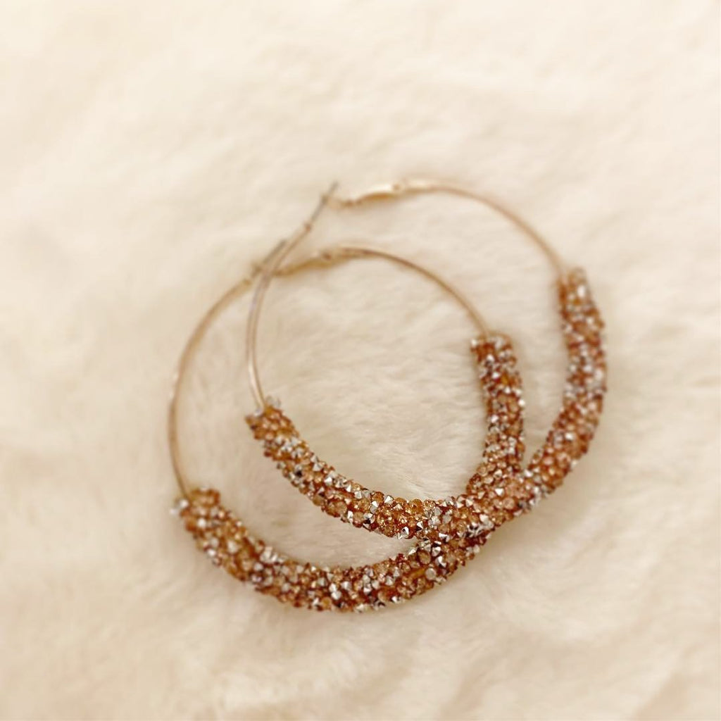 """Jessica"" Shimmer Hoop Earrings 