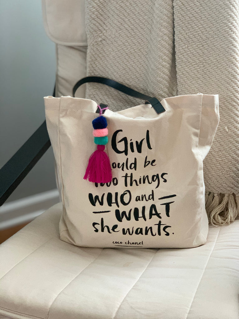 image of canvas tote with quote