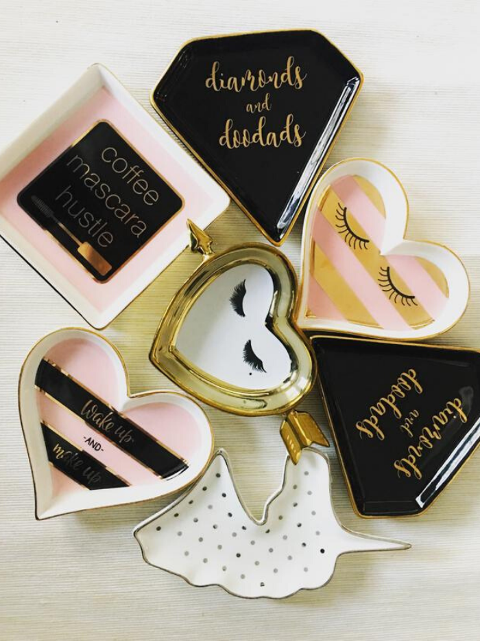 """Glam Girl"" Trinket Trays"