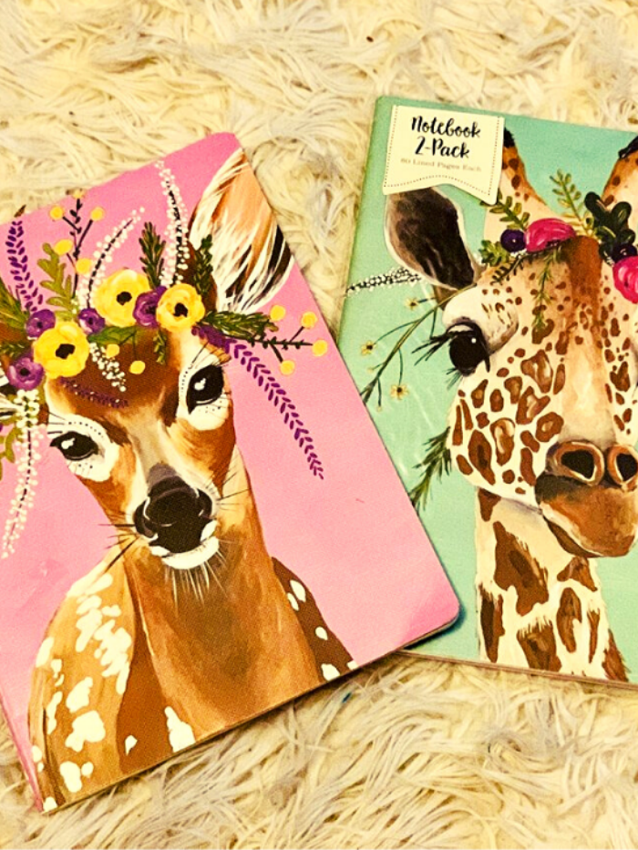 Flower Crown Creatures Large Journals | Wildlife Edition 2
