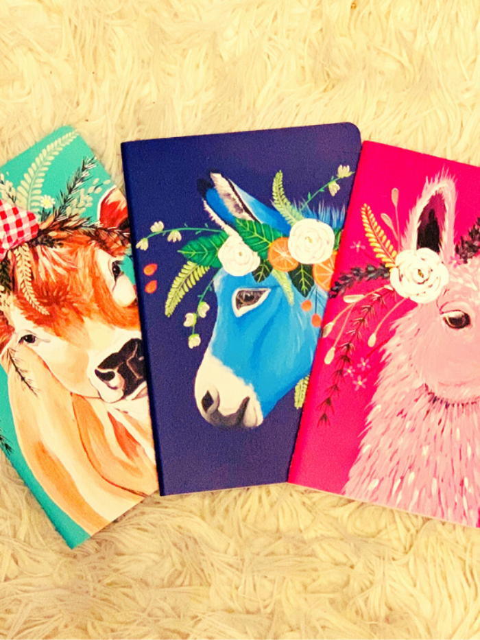 Flower Crown Creatures Journals | Farm Animals Ed. 1
