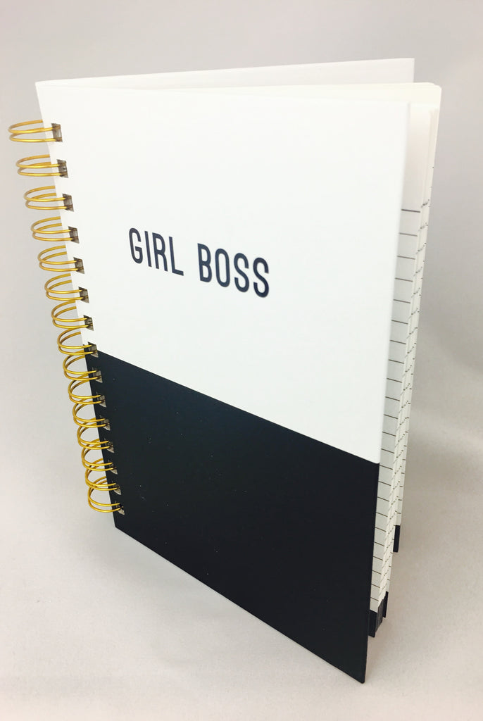"""Girl Boss"" Spiral Bound Notebook"