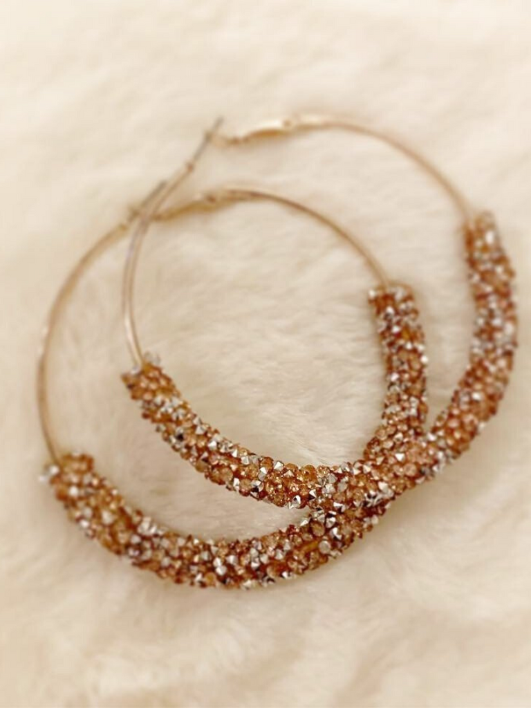 """Jessica"" Shimmer Hoop Earrings"