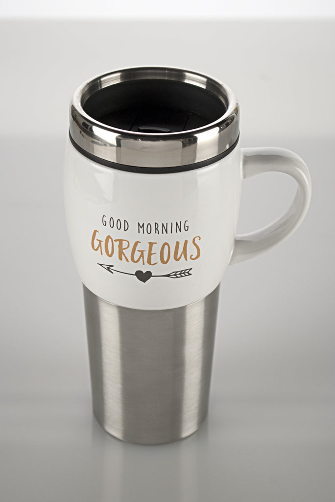 """Good Morning Gorgeous"" Stainless Travel Cup"