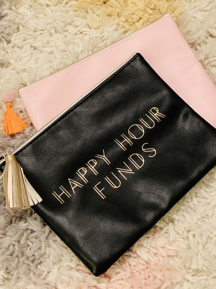 """Happy Hour Funds"" Zip Pouch"