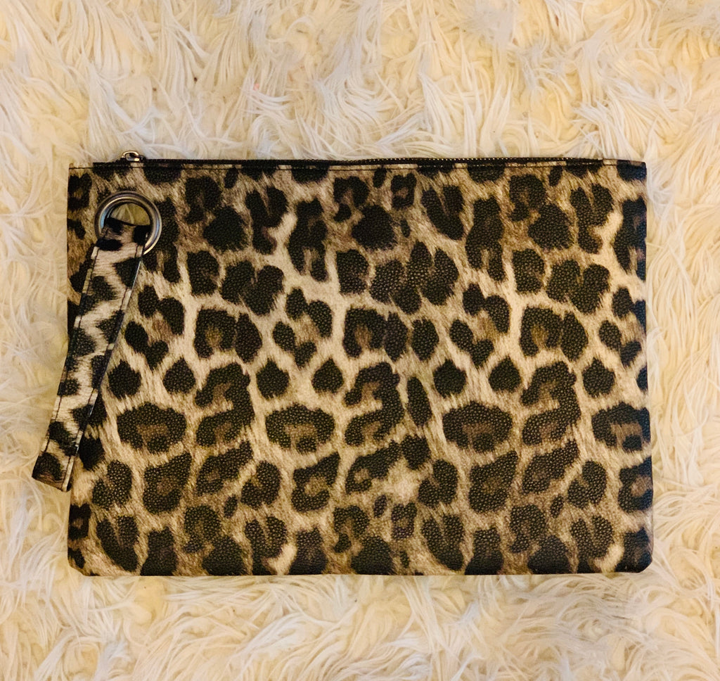 Leopard Print Clutch - Large | Handbags