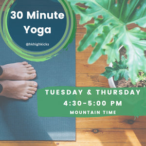 30 Minute LIVE Virtual Yoga