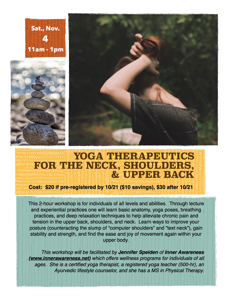Yoga Therapeutics for Neck, Shoulders, & Upper Back with Jen Speiden